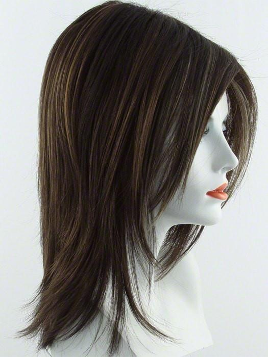 Color Chocolate-Swirl = Dark Brown Base with Light Auburn and Honey Blonde 50/50 highlight