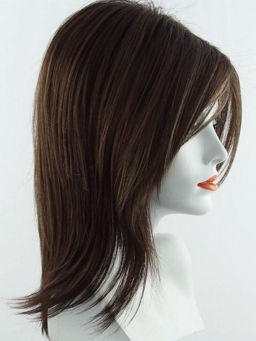 Color Java-Frost = Dark Brown base with Gold Blonde and Light Auburn 50/50 blend highlights