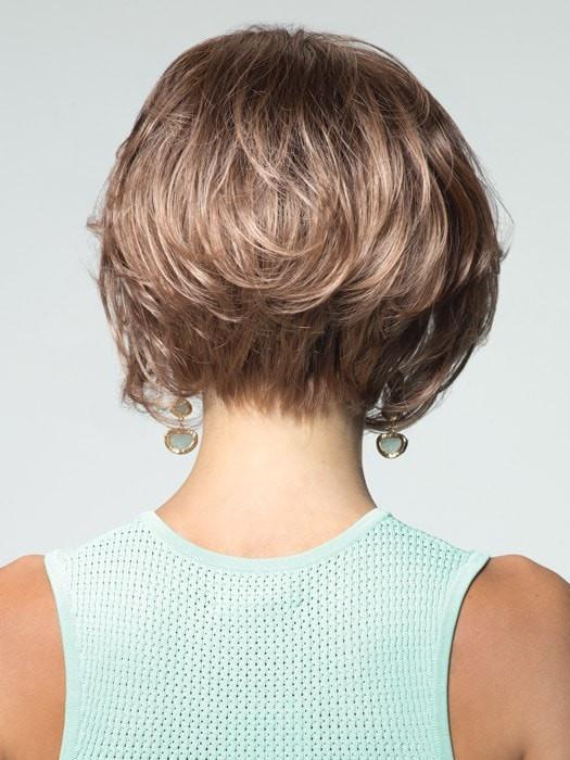 Modern Chin Length Bob with Loose Waves| Color: Macadamia-LR