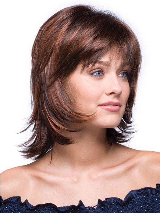 BAILEY by Rene of Paris in RED PEPPER | Dark Brown highlighted with fiery red