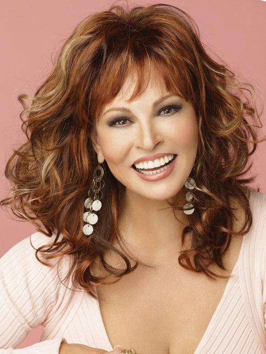Color R3025S = Glazed Cinnamon: Med Red Brown w/ Ginger Highlights on Top | Mega Tech by Raquel Welch