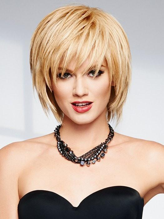 Blonde Bob Wig by Raquel Welch, Human Hair Wig with Bangs