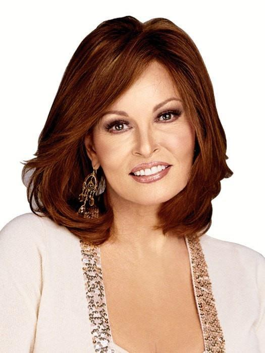 Red Human Hair Wig by Raquel Welch in R28S GLAZED FIRE