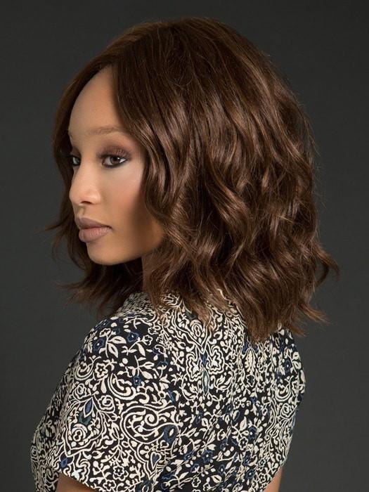 Human hair can be curled or straightened  (This piece has been styled and curled)