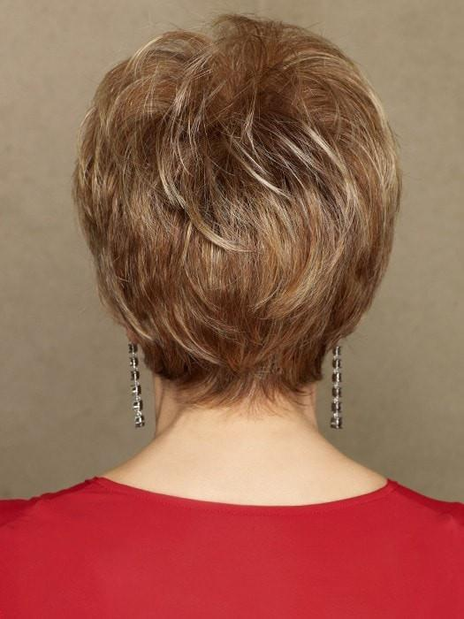 This light, boy cut features razor-like tapering of barely waved layers