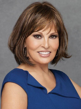 CLASSIC CUT by Raquel Welch in RL8/29 GLAZED HAZELNUT	Rich Medium Brown with Ginger Highlights on Top
