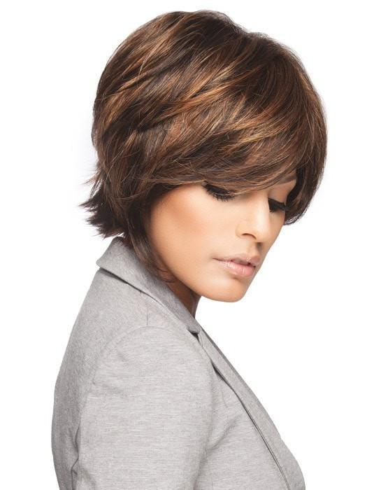 Layers add texture and movement. We used the Shaping Cream by BeautiMark to enhance the texture.