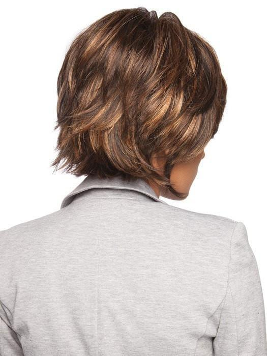 Flared ends and flipped layers make this cut salon worthy | Color: SS8/29