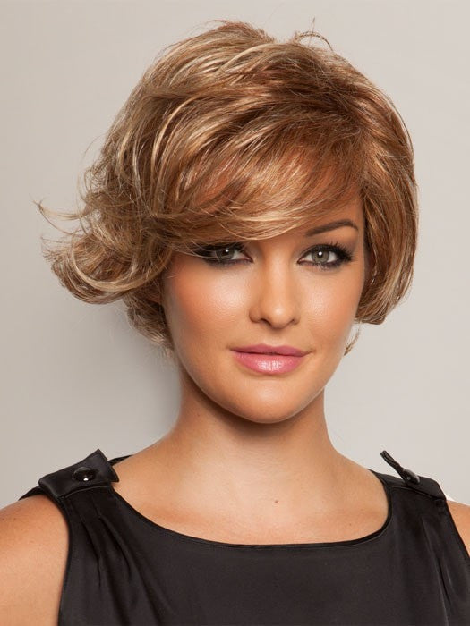 Color R829S+ = Glazed Hazelnut: Medium Brown with Ginger Highlights | Fashion Statement by Raquel Welch