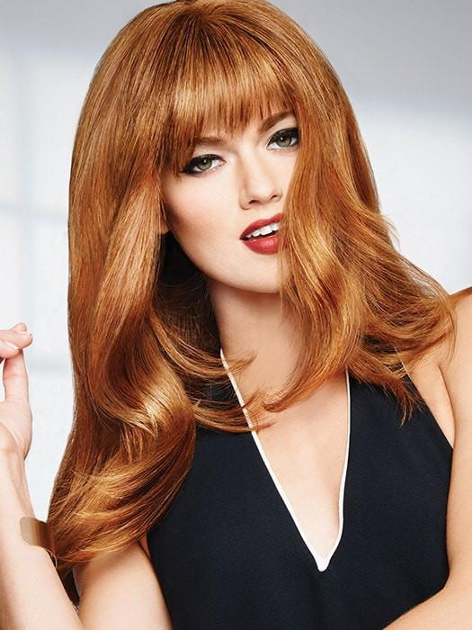 HUMAN HAIR BANG by Raquel Welch in R5HH | LIGHT REDDISH BROWN