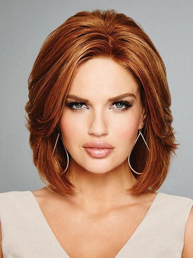 Red Lace Front Bob Wig by Raquel Welch in GLAZED CINNAMON