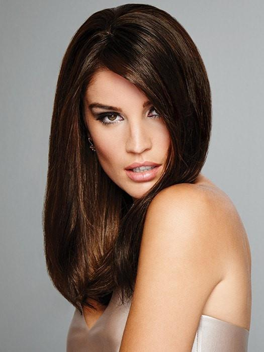 Indulgence by Raquel Welch is a Remy human hair topper | Color: R2/31