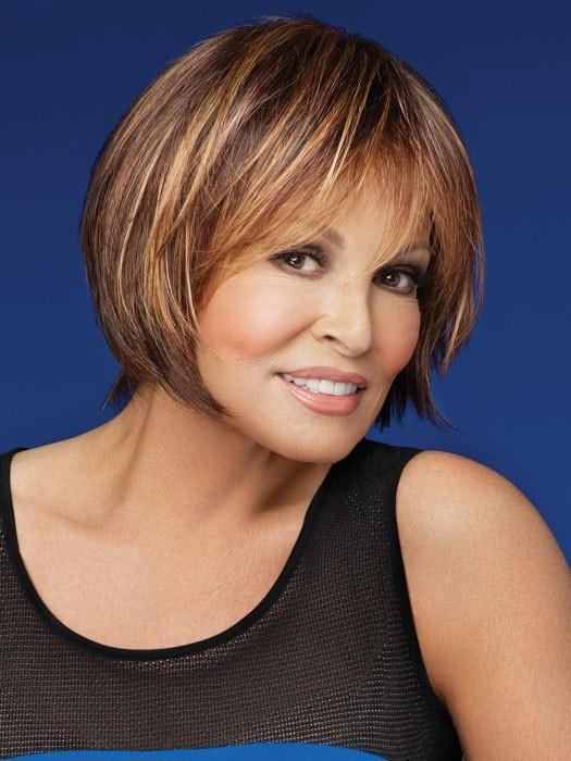 MUSE by Raquel Welch in R829S+ GLAZED HAZELNUT | Rich Medium Brown with Ginger Highlights on Top