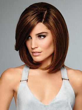 SAVOIR FAIRE by Raquel Welch in SS8/29 SHADED HAZELNUT | Rich Medium Brown Evenly Blended with Ginger Blonde Highlights with Dark Roots