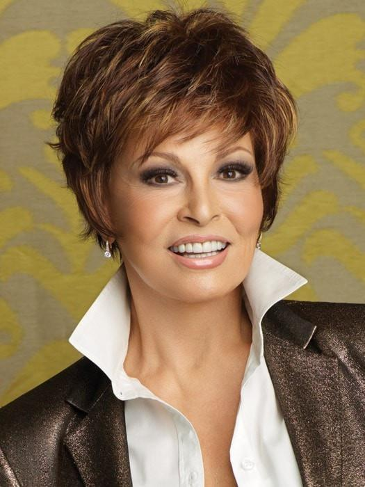 SPARKLE by Raquel Welch in R3329S+ GLAZED AUBURN | Rich Dark Auburn with Pale Ginger Blonde Highlights
