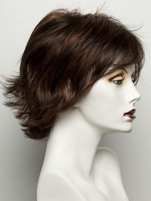 R6/28H | COPPERY MINK | Dark Medium Brown Evenly Blended with Vibrant Red Highlights