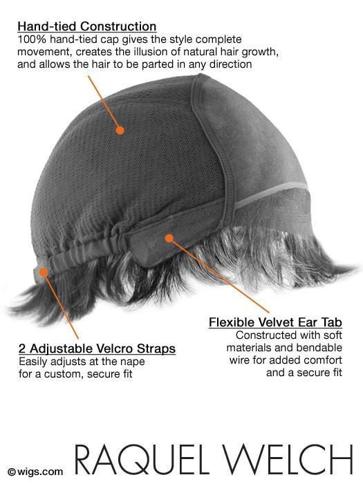 100% Hand-Tied cap for extra comfort