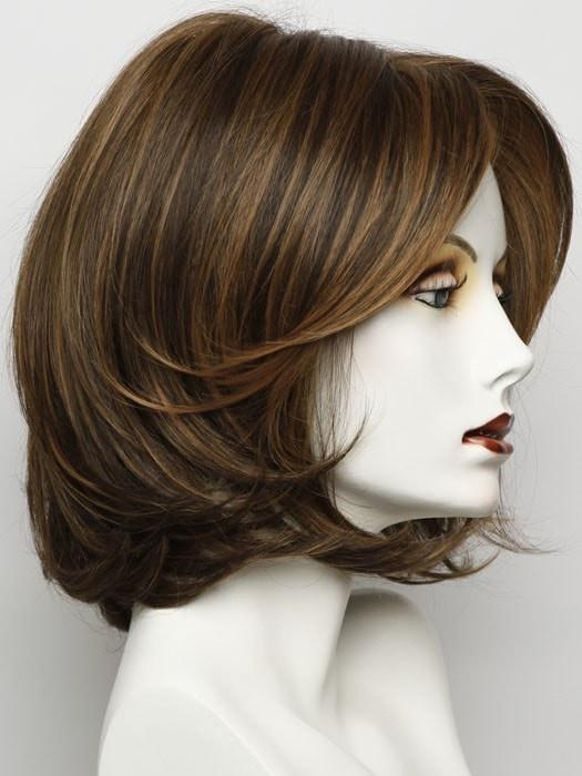 Color RL5/27 = Ginger Brown: A Warm Medium Brown With Light Auburn Highlights