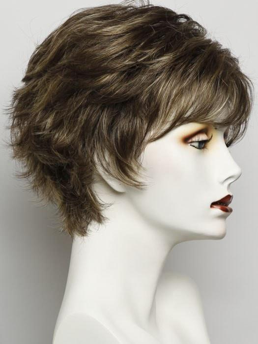 Color SS8/25 Golden Walnut =Rich Dark Brown w/ Gold blonde Hihglights and Dark Brown Roots