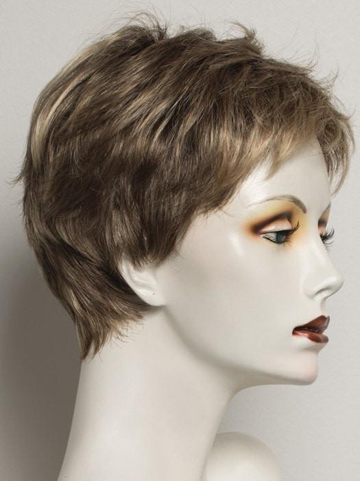SS12/22 | SHADED CAPPUCCINO | Light Golden Brown Evenly Blended with Cool Platinum Blonde Highlights and Dark Roots