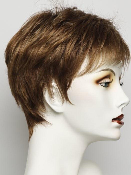 R3025S+ | GLAZED CINNAMON | Medium Auburn with Ginger Blonde Highlights on Top