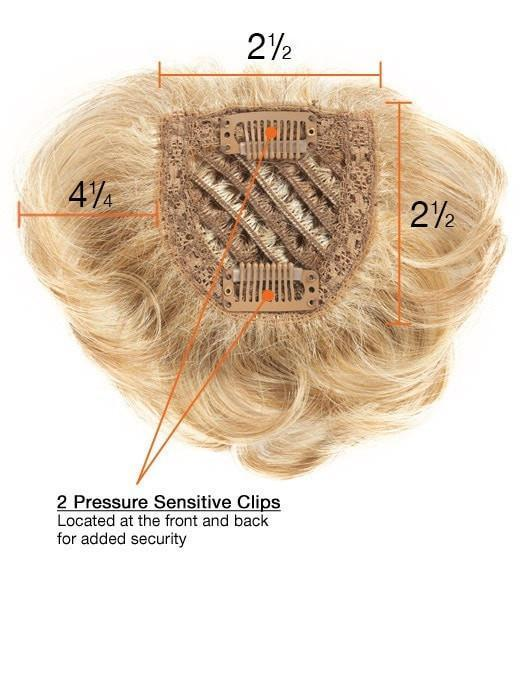 The base measures 2 1/2 x 2 1/2 making it ideal when adding thickness or creating an updo