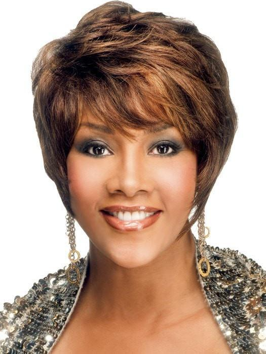 H-311 by Vivica Fox in FS4/27 | 80% Medium Dark Brown with 20% Honey Blonde Frost