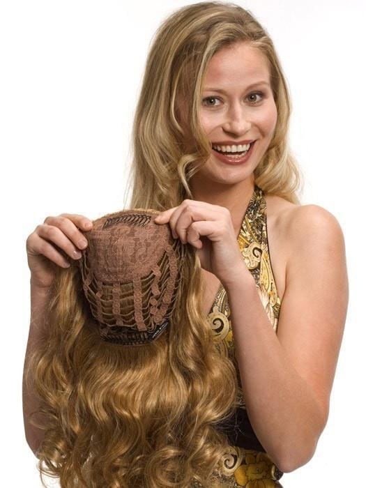 Jeanette by Wig Pro | Human Hair Half Wig (Clip In)
