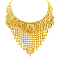 Gold Necklace triangle design