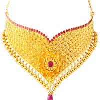 Gold Necklace ruby