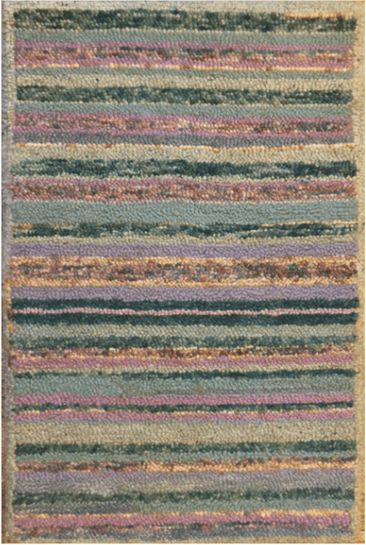 Hand Knotted Mir Design Green Area Rug