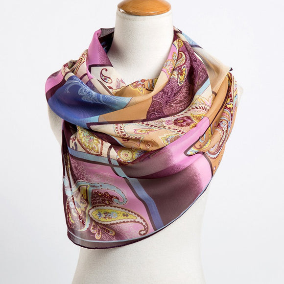 Long Chiffon Silk Scarf 33324-cashew-black $ 8.99 $ 8.99 $ 10.99 Scarves Accessories Glimmer and Hair  Glimmer and Hair