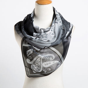 Long Chiffon Silk Scarf 33324-cashew-black $ 9.99 $ 9.99 $ 10.99 Scarves Accessories Glimmer and Hair  Glimmer and Hair