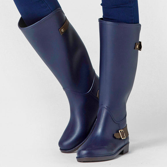 Knee High Blue Rain Boots 1397885-blue-5 $ 56.99 $ 56.99 $ 56.99 Boots Shoes Glimmer and Hair  Glimmer and Hair