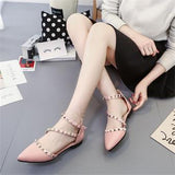 Leather Rivets Flat Shoes 1543636-pink-6 $ 26.99 $ 26.99 $ 28.99 Flats Shoes Glimmer and Hair  Glimmer and Hair