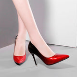 Ombre Faux Leather Heels 6275160-red-2-4 $ 31.99 $ 28.99 $ 33.99 Pumps Shoes Glimmer and Hair  Glimmer and Hair