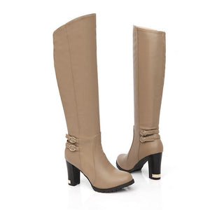 Knight High-heeled Knee Boots