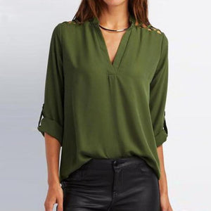 Tab-Sleeve Hollow Out Blouse 16249-army-green-4xl $ 19.99 $ 19.99 $ 19.99 Tops Apparel Glimmer and Hair  Glimmer and Hair