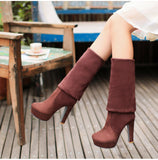 Square Heels Over The Knee Boots