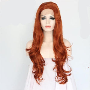 Orange Red Hair Synthetic Lace Front Wigs 9974181-orange-22inches $ 53.99 $ 53.99 $ 55.99 Synthetic Lace Front Wigs Hair Glimmer and Hair  Glimmer and Hair
