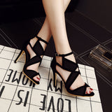 Fish Mouth High Heels Shoes 10752283-gray-3-5 $ 40.99 $ 40.99 $ 40.99 Pumps Shoes Glimmer and Hair  Glimmer and Hair
