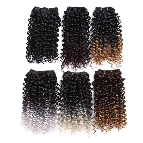 Two Tone Curly Weave Synthetic Hair Extensions 10902154-1b-8inches $ 20.99 $ 20.99 $ 21.99 Synthetic Hair Extensions Hair Glimmer and Hair  Glimmer and Hair
