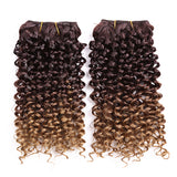 Two Tone Curly Weave Synthetic Hair Extensions 10902154-4-27hl-14inches $ 21.99 $ 14.99 $ 21.99 Synthetic Hair Extensions Hair Glimmer and Hair  Glimmer and Hair