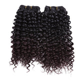 Two Tone Curly Weave Synthetic Hair Extensions