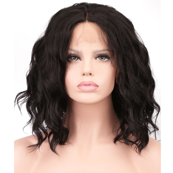 Short Natural Wave Lace Front Wig