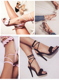 Ruffle High Heels Shoes 13636531-black-6-5-china $ 28.99 $ 28.99 $ 28.99 Sandals Shoes Glimmer and Hair  Glimmer and Hair