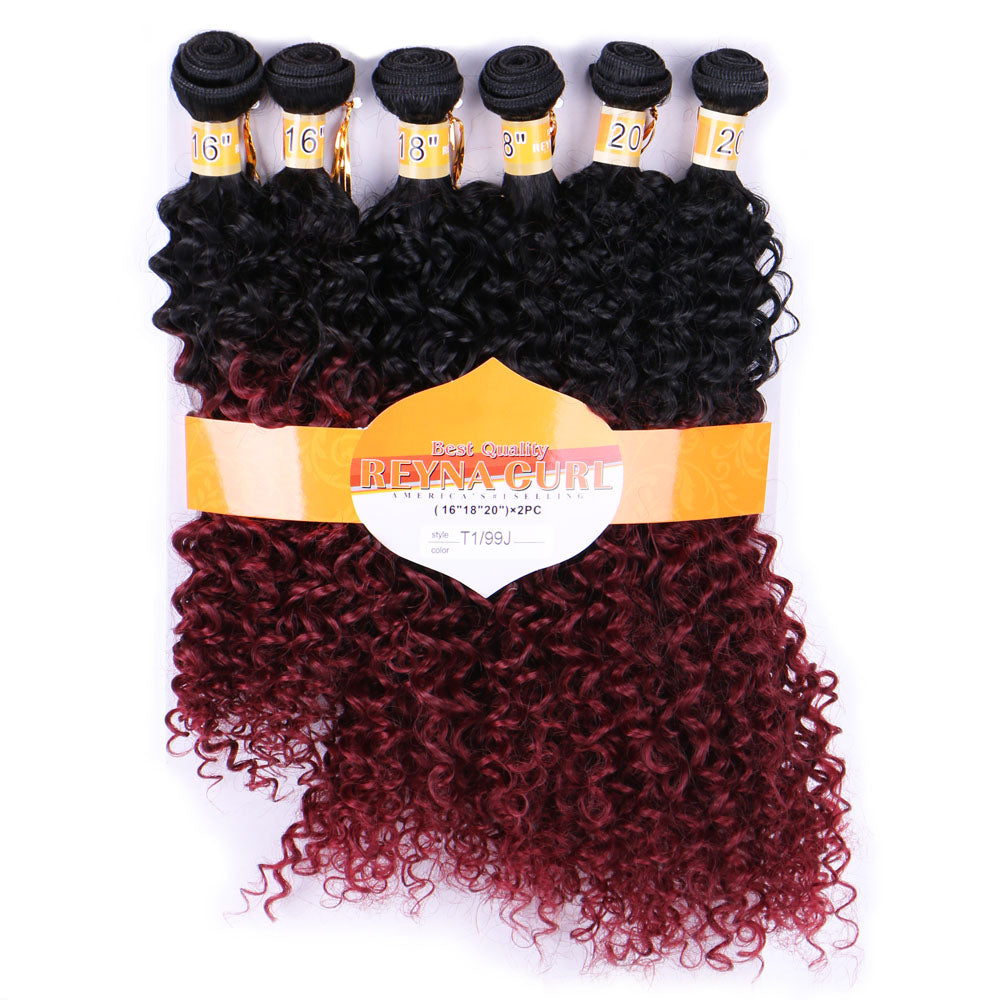 Ombre Curly Synthetic Hair Extensions Glimmer And Hair