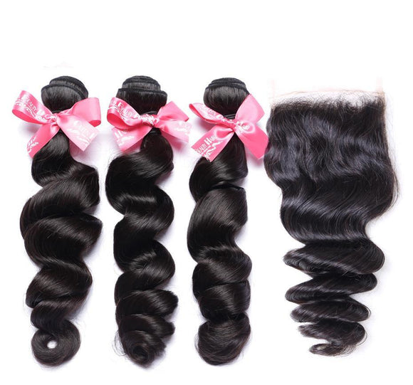 Black Wavy Human Hair Extension 4 pcs Set 6495860-14-14-14-closure12-free-part $ 163.99 $ 163.99 $ 314.99 Human Hair Extensions Hair Glimmer and Hair  Glimmer and Hair