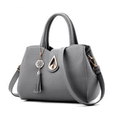 Tassel Casual Leather Tote Bag