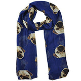 Dog Print Scarf 13869485-blue-united-states $ 3.99 $ 3.99 $ 7.99 Scarves Accessories Glimmer and Hair  Glimmer and Hair